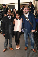 Tony Marshall, Azuka Oforka and Charles Dale<br /> arriving for the TRIC Awards 2016 at the Grosvenor House Hotel, Park Lane, London<br /> <br /> <br /> &copy;Ash Knotek  D3095 08/03/2016