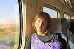 Model released young woman passenger on RENFE train in Spain