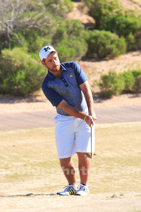 The University of Michigan men's golf team placed second in the 2015 Desert Mountain Intercollegiate. Scottsdale, AZ. March 7, 2015