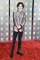 Timothee Chalamet<br /> arriving for the BAFTA Film Awards 2019 at the Royal Albert Hall, London<br /> <br /> ©Ash Knotek  D3478  10/02/2019