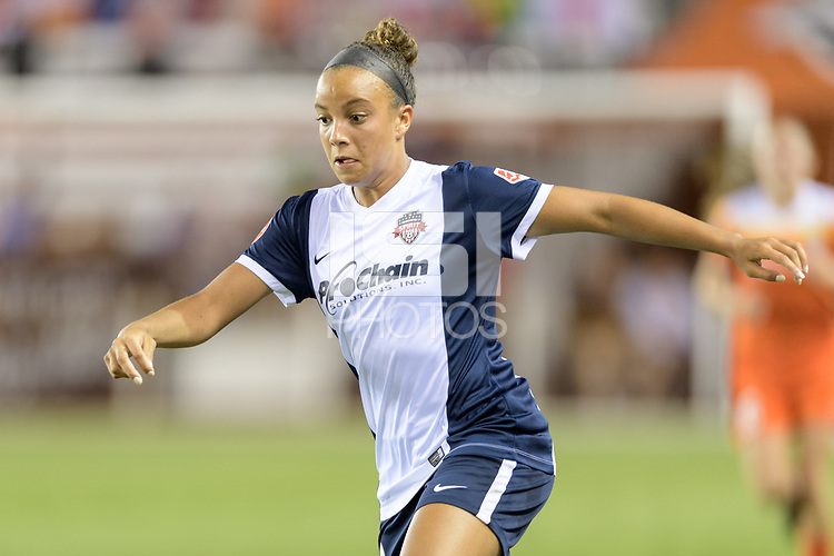 Houston, TX - Saturday July 15, 2017: Mallory Pugh during a regular season National Women's Soccer League (NWSL) match between the Houston Dash and the Washington Spirit at BBVA Compass Stadium.