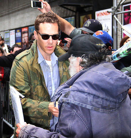 NEW YORK, NY - May 17: Benedict Cumberbatch at The Late Show with Stephen Colbert promoting Avengers: Infinity War in New York City on May 17, 2018. Credit: RW/MediaPunch