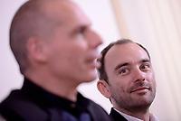 Roma, 24 marzo 2017<br /> Yanis Varoufakis e Lorenzo Marsili presentano il programma di European New Deal di Diem25 alla stampa estera
