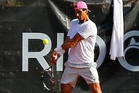 RIO DE JANEIRO, RJ, 20.02.2015 - RIO OPEN 2015 - O tenista espanhol Rafael Nadal, cabeça de chave número um do torneio internacional de tênis Rio Open 2015, durante treino na tarde desta sexta-feira, 20. O torneio realiza-se de 16 a 22 de fevereiro, no Jockey Club Brasileiro, zona sul da cidade. (Foto: Gustavo Serebrenick/Brazil Photo Press)