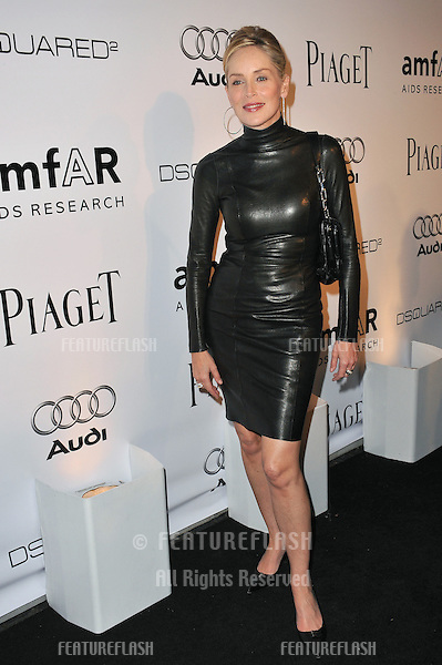 Sharon Stone at the launch of amfAR's L.A. Event celebrating Men's Style at the Chateau Marmont Hotel, West Hollywood..October 27, 2010  Los Angeles, CA.Picture: Paul Smith / Featureflash