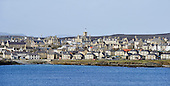 Shetland - the Sletts portion of Lerwick's residential areas dominated by the Town Hall - - picture by Donald MacLeod - 09.03.14 – 07702 319 738 – clanmacleod@btinternet.com – www.donald-macleod.com