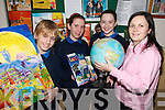 HAPPY DAYS: Pupils  from Currow National School who are taking part in a five week Transfer Programme aimed to students moving into Second level Education in 2007..L/r. David King, Susan O'Connor, Mairead McKeown and Geraldine O'Sullivan (KDYS, Castleisland).