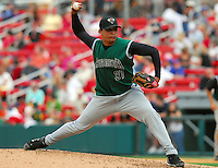 6 May 2007: Juan Trinidad from a game between the Augusta GreenJackets, Class A South Atlantic League affiliate of the San Francisco Giants, and the Greenville Drive at West End Field in Greenville, S.C. Photo by:  Tom Priddy/Four Seam Images