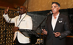 Alan H. Green and Robert Cuccioli attends the Album Launch Party for 'Angels' at the The Gold Bar on October 25, 2017 in New York City.