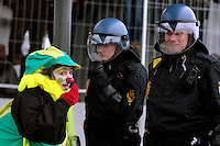 Demonstration aimed at reaching COP15 conference was met by heavy police presence. United Nations Climate Change Conference (COP15) was held at Bella Center in Copenhagen from the 7th to the 18th of December, 2009. A great deal of groups tried to voice their opinion and promote their cause in various ways. ..©Fredrik Naumann/Felix Features.