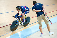 Picture by Alex Whitehead/SWpix.com - 24/03/2018 - Cycling - 2018 UCI Para-Cycling Track World Championships - Rio de Janeiro Municipal Velodrome, Barra da Tijuca, Brazil - David Calmon of France competes in the Men's C4 Individual Pursuit qualifying.