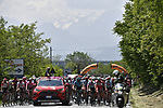 The start of Stage 12 of the 2019 Giro d'Italia, running 158km from Cuneo to Pinerolo, Italy. 23rd May 2019<br /> Picture: Fabio Ferrari/LaPresse | Cyclefile<br /> <br /> All photos usage must carry mandatory copyright credit (© Cyclefile | Fabio Ferrari/LaPresse)