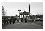 Changing the guard at the Brandenburg Gate, East Berlin, 18 November 1989. The East Greman Border Guards, the Grenztruppen, consisted of 50,000 soldiers half of which were conscripts. Their twin roles were to prevent East German citizens from escaping the DDR and to be the first line of assult in the event of an attack on the West. Photograph copyright Graham Harrison.