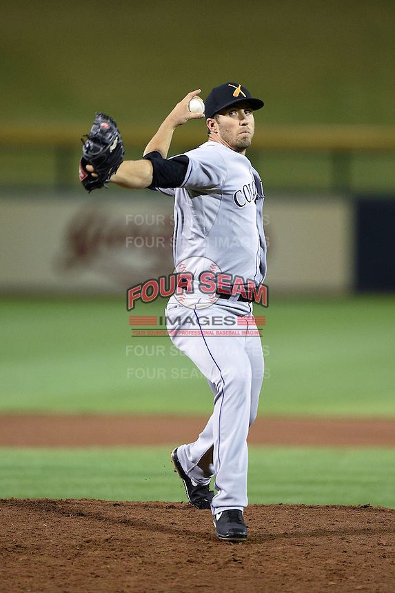 Salt River Rafters pitcher Ken Roberts (55) during an Arizona Fall League game against the Mesa Solar Sox on October 18, 2014 at Cubs Park in Mesa, Arizona.  Mesa defeated Salt River 8-4.  (Mike Janes/Four Seam Images)