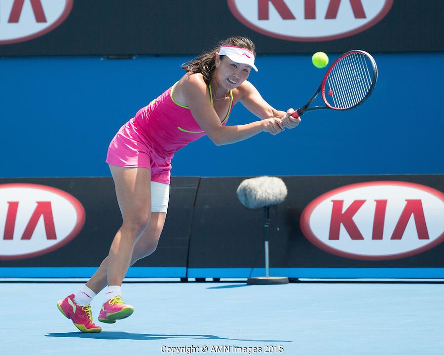 Shuai Peng (CHN)<br /> <br /> Tennis - Australian Open 2015 - Grand Slam -  Melbourne Park - Melbourne - Victoria - Australia  - 23 January 2015. <br /> &copy; AMN IMAGES