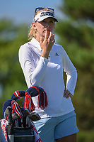 Jessica Korda (USA) looks over her tee shot on 3 during round 1 of the 2018 KPMG Women's PGA Championship, Kemper Lakes Golf Club, at Kildeer, Illinois, USA. 6/28/2018.<br /> Picture: Golffile | Ken Murray<br /> <br /> All photo usage must carry mandatory copyright credit (&copy; Golffile | Ken Murray)