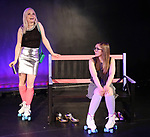 Claire Autran and Azalea Lewis during The Dare Tactic production of 'A Roller Rink Temptation' at  WOW Cafe on May 25, 2018 in New York City.