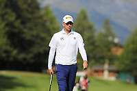 Marcel Siem (GER) on the 10th green during Thursday's Round 1 of the 2017 Omega European Masters held at Golf Club Crans-Sur-Sierre, Crans Montana, Switzerland. 7th September 2017.<br /> Picture: Eoin Clarke | Golffile<br /> <br /> <br /> All photos usage must carry mandatory copyright credit (&copy; Golffile | Eoin Clarke)
