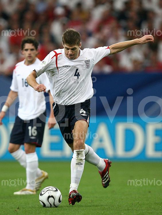 Fussball WM 2006  Viertelfinale  England - Portugal Steven Gerrard (ENG)