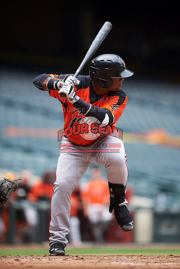 San Francisco Giants Miguel Gomez (23) during an instructional league game against the Arizona Diamondbacks on October 16, 2015 at the Chase Field in Phoenix, Arizona.  (Mike Janes/Four Seam Images)