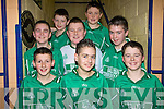 Ballyduff under thirteen soccer team pictured at Listowel Community Centre on Sunday after competing in the Community games Indoor Soccer Tournament.  Front l-r Gearoid kindelen, Seamus Teague and Jack Goulding.  Middle Eoin Ross, Daniel O'Carroll and jack O'Grady.  at the back are Gearoid O'Connor and Darragh Daly.  ..