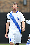 30 August 2015: Duke's Jared Rist. The Duke University Blue Devils hosted the DePaul University Blue Demons at Koskinen Stadium in Durham, NC in a 2015 NCAA Division I Men's Soccer match.