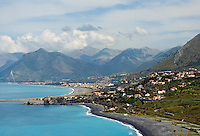 Italy, Calabria, Praia a Mare: popular beach resort at Riviera dei Cedri