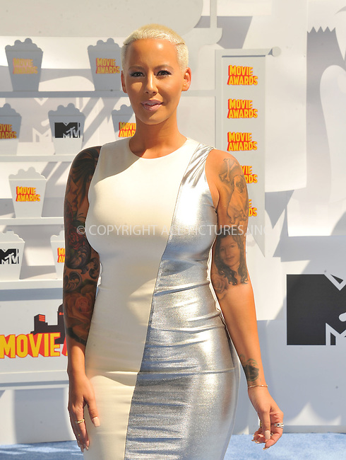 WWW.ACEPIXS.COM<br /> <br /> April 12 2015, LA<br /> <br /> Amber Rose arriving at the 2015 MTV Movie Awards at the Nokia Theatre L.A. Live on April 12, 2015 in Los Angeles, California.<br /> <br /> By Line: Peter West/ACE Pictures<br /> <br /> <br /> ACE Pictures, Inc.<br /> tel: 646 769 0430<br /> Email: info@acepixs.com<br /> www.acepixs.com