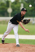 21 May 2009: Stevie Barett of Clermont-Ferrand pitches against Rouen during the 2009 challenge de France, a tournament with the best French baseball teams - all eight elite league clubs - to determine a spot in the European Cup next year, at Montpellier, France.