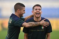 Marco Verratti and Jorginho <br /> Roma 11-10-2019 Stadio Olimpico <br /> European Qualifiers Qualifying round <br /> Italy - Greece day -1 training<br /> Photo Andrea Staccioli/Insidefoto