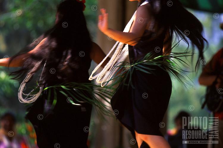 Tahitian Performance at May Day Celebration. Hula Halau Na ëOpio O Koíolau.'