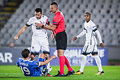 28th September 2017, Partizan Stadium, Belgrade, Serbia; UEFA Europa League group stage, Partizan versus Dynamo Kiev; Midfielder Milan Radin of Partizan after the referees decision