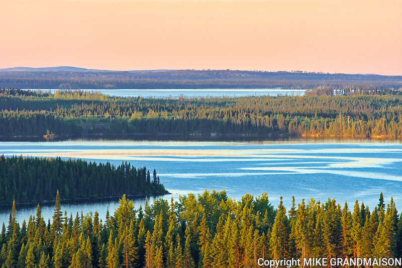 Overview of Lac Gilman<br />Chibougameau<br />Quebec<br />Canada