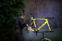 Team Direct Energie mechanics at work after stage 6 of the 77th Paris - Nice 2019 (2.UWT)<br /> <br /> ©kramon