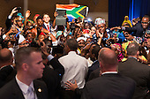United States President Barack Obama greets attendees at a Young African Leaders Initiative (YALI) town hall at the Omni Shoreham Hotel in Washington, DC, August 3, 2016.  <br /> Credit: Chris Kleponis / Pool via CNP