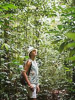Kenes Andari, during the trek for the red bird of paradise (Cenderawasih Merah) birdwatching in Gam island, Raja Ampat, West Papua, Indonesia