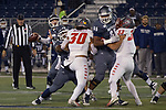 Nevada quarterback Carson Strong throws against New Mexico            in the first half of an NCAA college football game in Reno, Nev., Saturday, Nov. 2, 2019. (AP Photo/Tom R. Smedes)