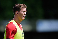 Lincoln City's Sean Raggett during the pre-match warm-up <br /> <br /> Photographer Chris Vaughan/CameraSport<br /> <br /> Football - Pre-Season Friendly - Lincoln United v Lincoln City - Saturday 8th July 2017 - Sun Hat Villas Stadium - Lincoln<br /> <br /> World Copyright &copy; 2017 CameraSport. All rights reserved. 43 Linden Ave. Countesthorpe. Leicester. England. LE8 5PG - Tel: +44 (0) 116 277 4147 - admin@camerasport.com - www.camerasport.com