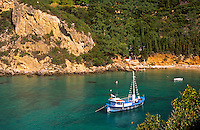 Paleokastritsa Resort area Corfu Greece