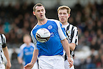 St Mirren v St Johnstone.....02.02.13      Scottish Cup.Dave McCracken shileds the ball from.Picture by Graeme Hart..Copyright Perthshire Picture Agency.Tel: 01738 623350  Mobile: 07990 594431