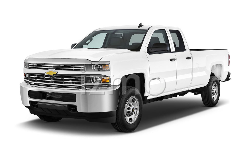 2015 Chevrolet Silverado 2500 HD Work Truck Double Cab LWB 4 Door  Angular Front stock photos of front three quarter view
