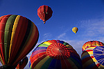 Kent International balloon festival hot air ballons beginning to lift off at at sunrise Kent Washington State USA.