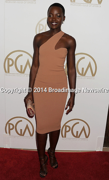 Pictured: Lupita Nyong'o<br /> Mandatory Credit &copy; Joseph Gotfriedy/Broadimage<br /> 25th Annual Producers Guild Awards<br /> <br /> 1/19/14, Beverly Hills, California, United States of America<br /> <br /> Broadimage Newswire<br /> Los Angeles 1+  (310) 301-1027<br /> New York      1+  (646) 827-9134<br /> sales@broadimage.com<br /> http://www.broadimage.com