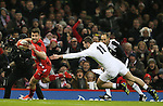 Rhys Webb of Wales breaks free of Jonny May of England to score a try - RBS 6Nations 2015 - Wales  vs England - Millennium Stadium - Cardiff - Wales - 6th February 2015 - Picture Simon Bellis/Sportimage