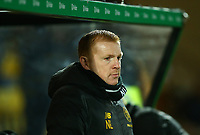 4th March 2020; Almondvale Stadium, Livingston, West Lothian, Scotland; Scottish Premiership Football, Livingston versus Celtic; Celtic Manager Neil Lennon looks on pensively as his team lags behind