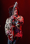 Guitarist Steve Stevens performs with Billy Idol in concert in the Grand Sierra Resort's Grand Theatre on Friday night, August 7, 2015.