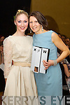 Pictured at Kerry Fashion Weekend awards held in the Carlton hotel, Tralee on Saturday evening was winner of the Kerry Fashion Designer of the year award Tina Griffin, Killorglin (on Right) with Tralee model Kirsten McKenzie Vass wearing one of her designs