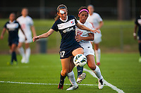 Sky Blue FC midfielder Katy Freels (Frierson) (17) is marked by FC Kansas City midfielder Desiree Scott (11). Sky Blue FC and FC Kansas City played to a 2-2 tie during a National Women's Soccer League (NWSL) match at Yurcak Field in Piscataway, NJ, on June 26, 2013.