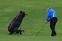 Harriet Lockley (WAL) on the 1st fairway during Round 1 of the Irish Girls U18 Open Stroke Play Championship at Roganstown Golf &amp; Country Club, Dublin, Ireland. 05/04/19 <br /> Picture:  Thos Caffrey / www.golffile.ie
