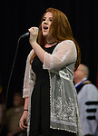 National Anthem singer Brieonna Schilling during the TMCC Graduation held at Lawlor Events Center in Reno, Nevada on Friday, May 11, 2018.